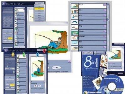 قاموس متعدد اللغات 12 لغة - Portable 8 in 1 English Dictionary  41abf48c4953
