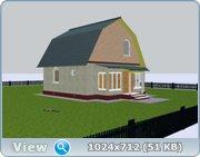 Проект часного дома с мансардой  6b4b9c505b44