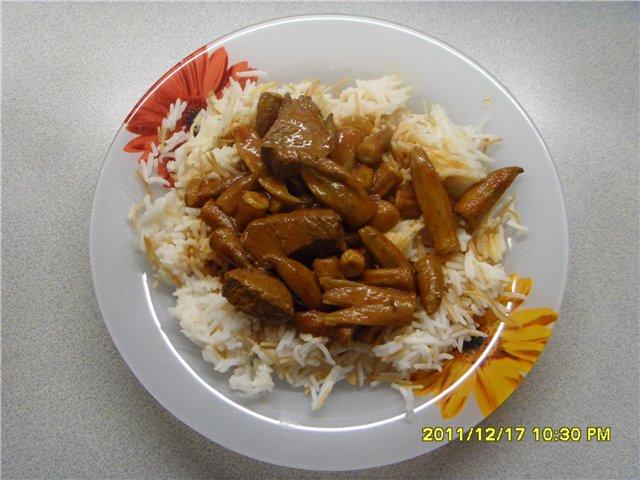 Бамия (Бамия с телятиной). Арабская кухня Fcb4ae8926ef