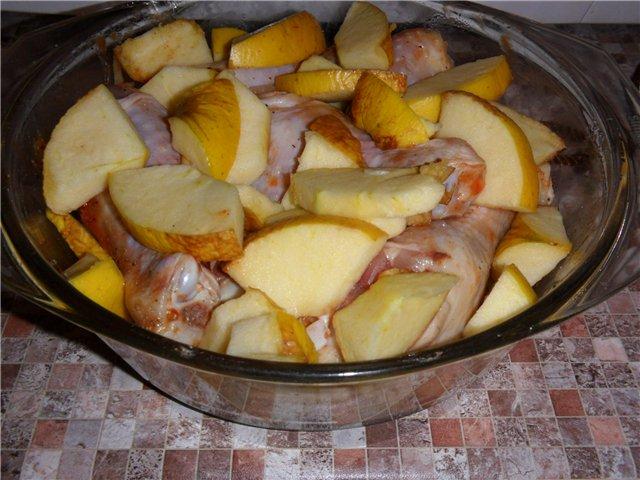 Куриная голень с яблоками 9f0ef0cd76c4