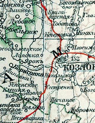 Козлов-Мичуринск на картах 3b823fc4acd7