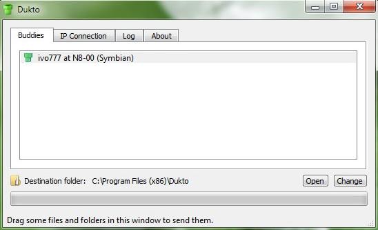Dukto R4 - обмен на файлове през WiFi Ec2b3655b980