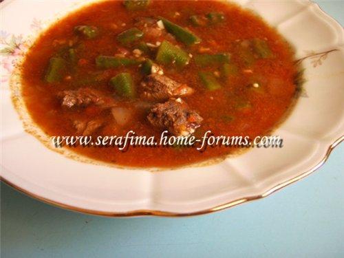 Бамия (Бамия с телятиной). Арабская кухня 97dc2125411e