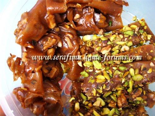 Маль-бан - сладость из увареного виноградного сока с орехами. Арабская кухня 28522c022568
