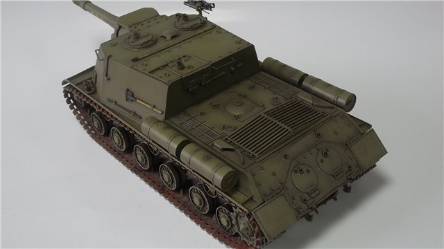 """ИСУ-152 """"Зверобой"""", 1/35, (Звезда 3532) перекраска старой модели. 1686fec518f8"""