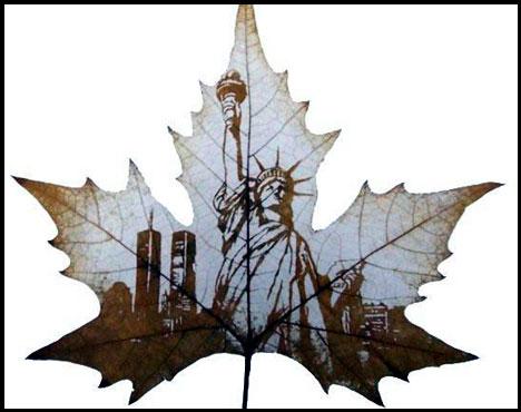 Креатив на кленовых листьях 9a0587dfcbfc