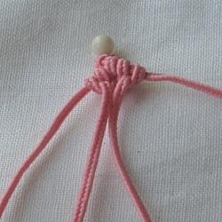 10 плетёных цепочек с бисером в технике макраме 23bc6bbd764e