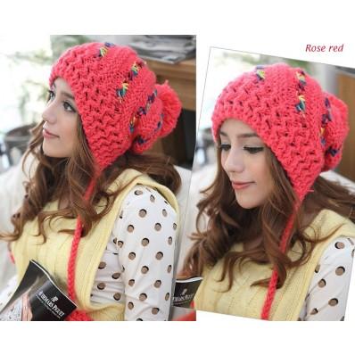 قبعات بنات روعة  Multi-color-striped-knit-winter-chullo-19.89-Favim.com-568532