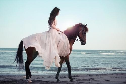 [..يُرعبني....! Beach-girl-girls-horse-Favim.com-599178