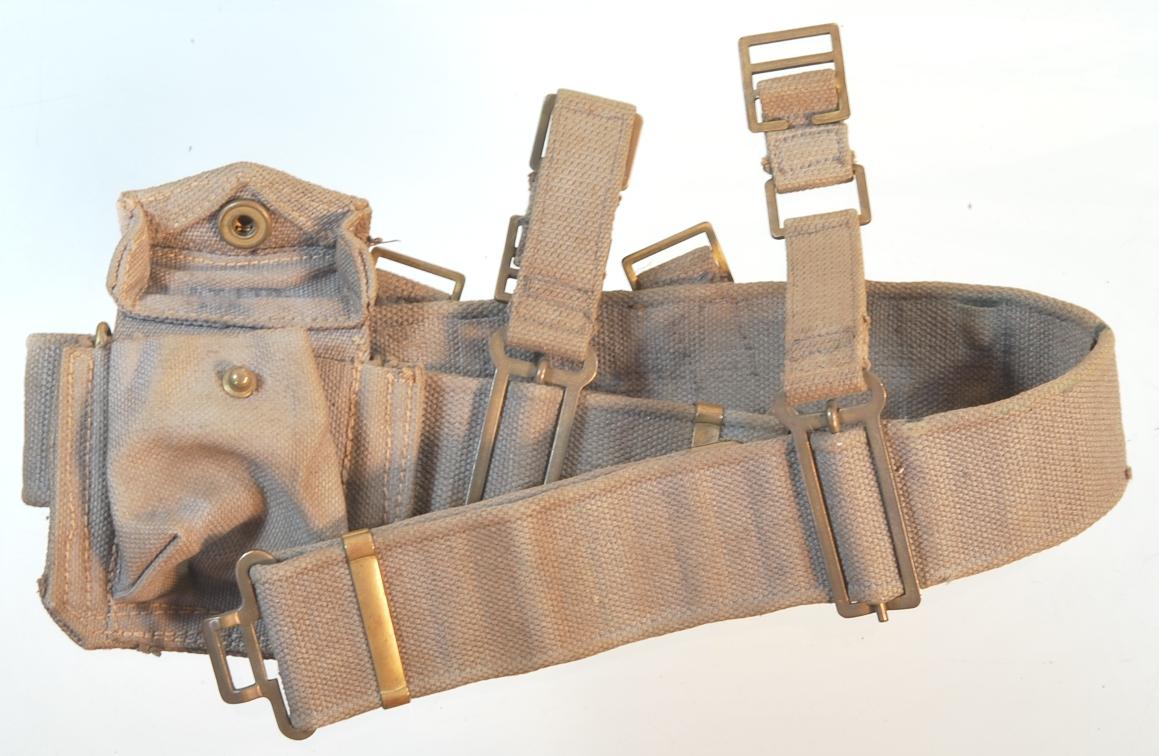 1940, 1941 and 1942  Canadian P37 web belts DSC_0006