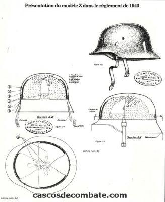 casco - Mod. 35 alemán en España. Reglamento_1943_b