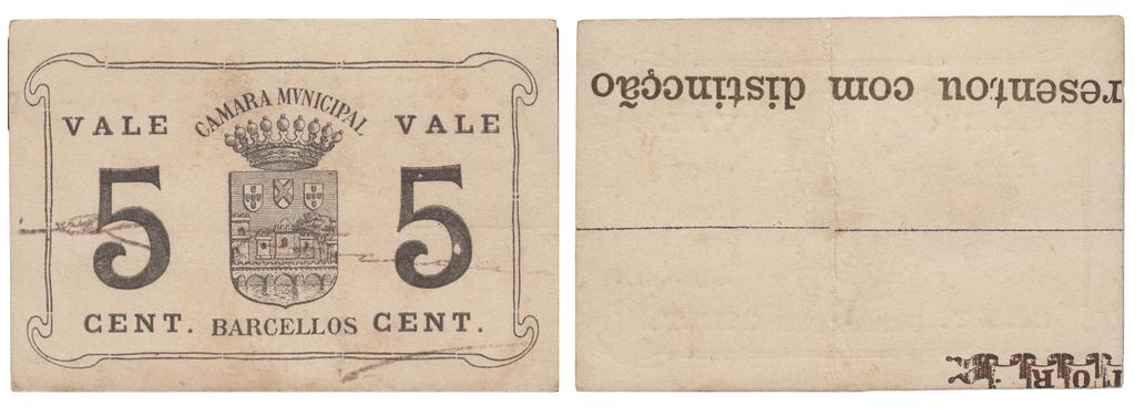 1 Peseta Alcoy, 1937 BArcellos