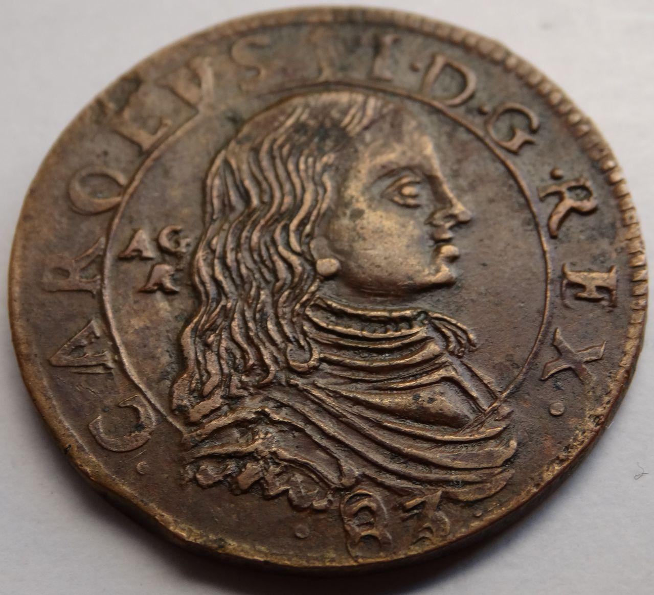Grano de 1683. Carlos II, ceca de Nápoles DSC02919