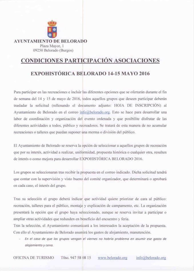 Expohistórica Belorado 2016. 12932922_499709443547574_1266637154559828221_n