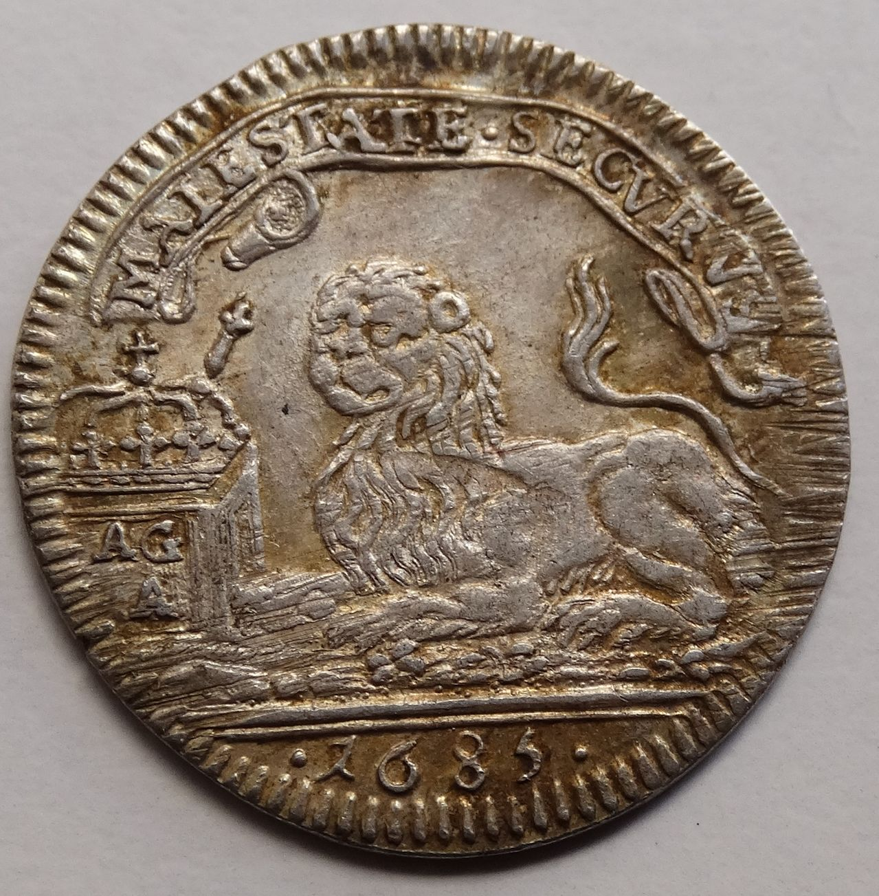 1 carlino de 1685. Carlos II, Nápoles DSC03294