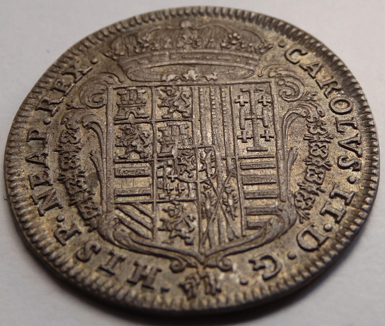 1 tari de 1687. Carlos II, Nápoles DSC03300