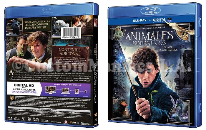 LIBERADA - Animales Fantásticos y Dónde Encontrarlos (Fantastic Beasts and Where to Find Them)  DVD + BLU-RAY Animal