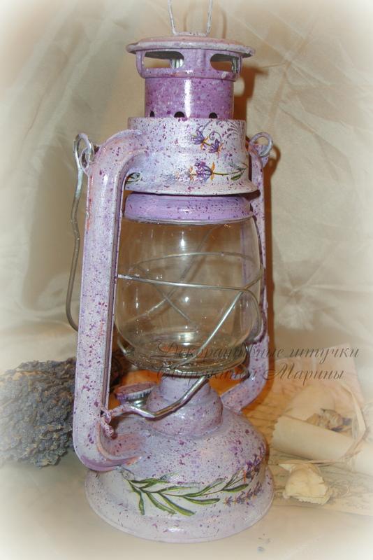 Керосиновая лампа в технике декупаж! Создадим летнее настроение DSC08970