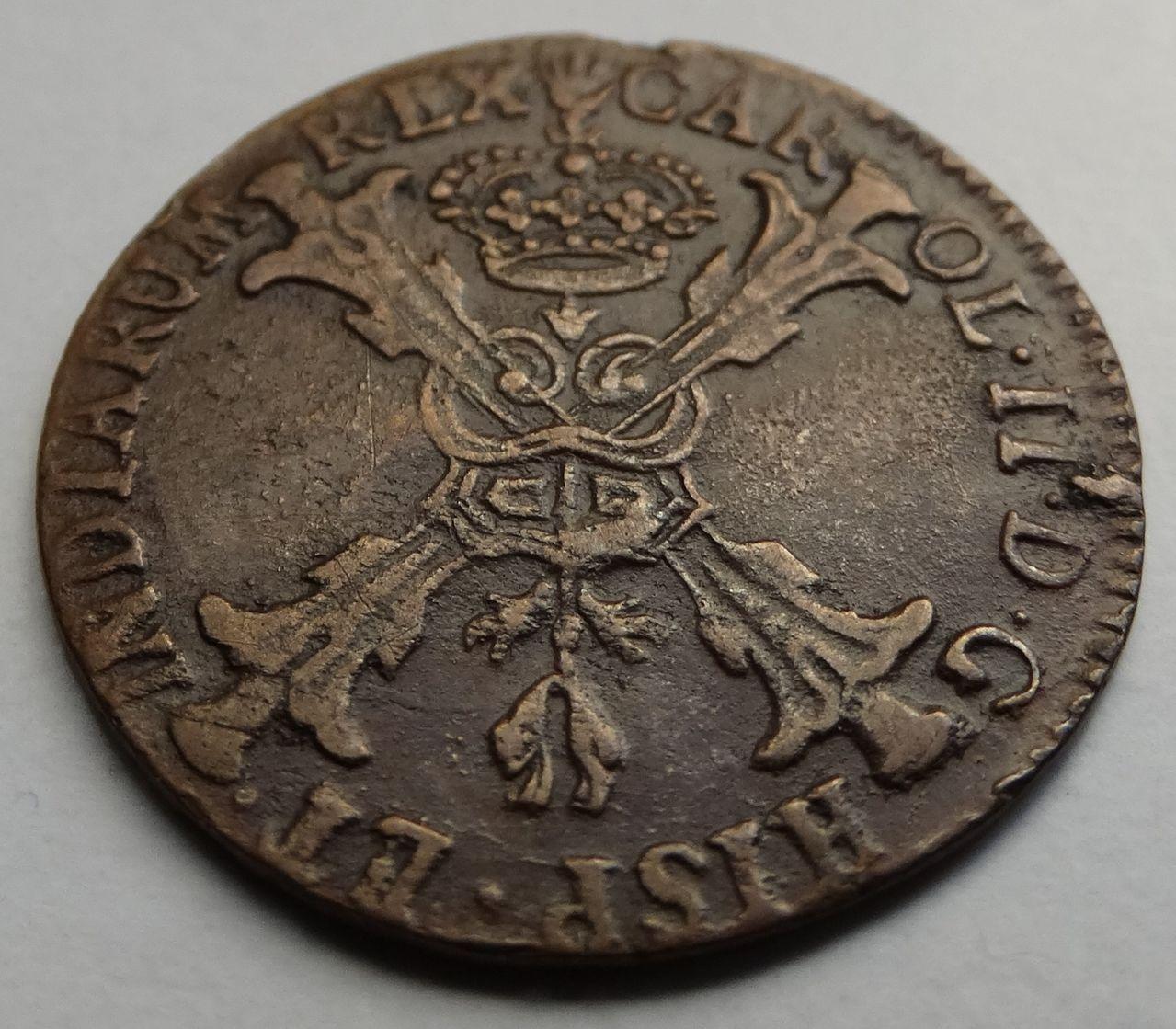 Gigot de 1700. Carlos II, Amberes. DSC02404