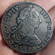 8 Reales 1789. Carlos IV. Lima. Busto Carlos III. CIV1789_N1