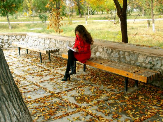 Gijom Muso-Central Park - Page 3 Thoughtfulness_girl_stroll_golden_autumn_yellow_woman_girls_autu