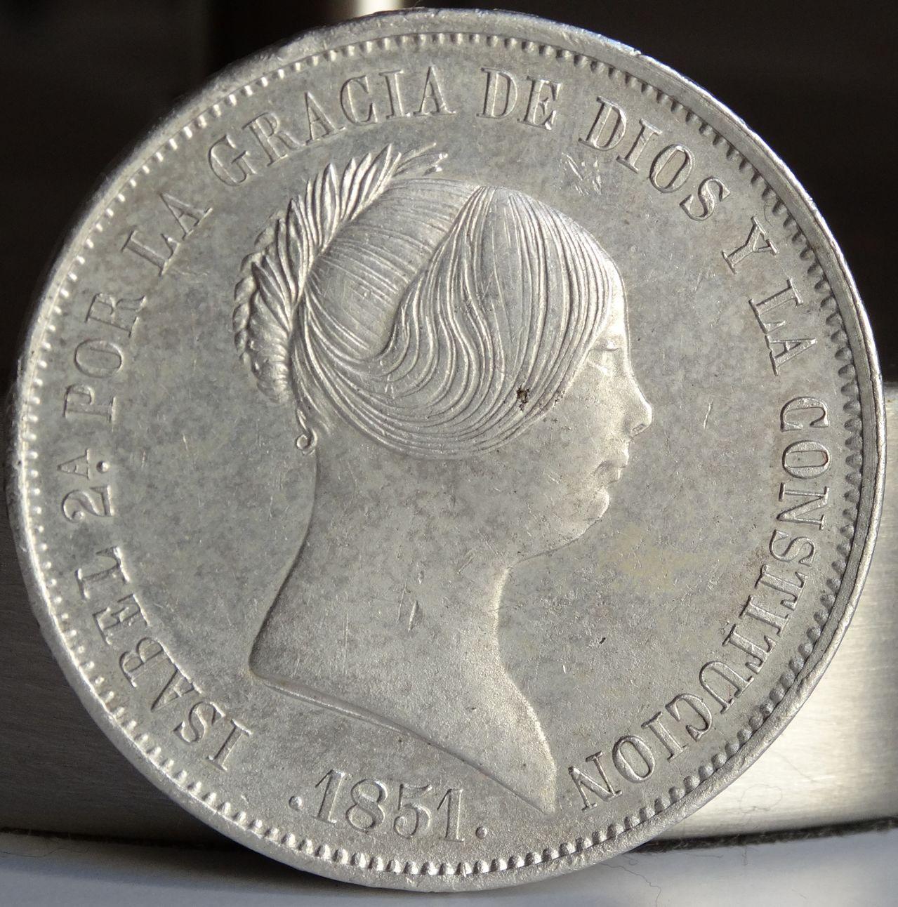20 REALES ISABEL II 1851 MADRID DSC02597