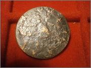 10 centimos 1870. Gobierno Provisional - con resello CNT/FAI PA060154