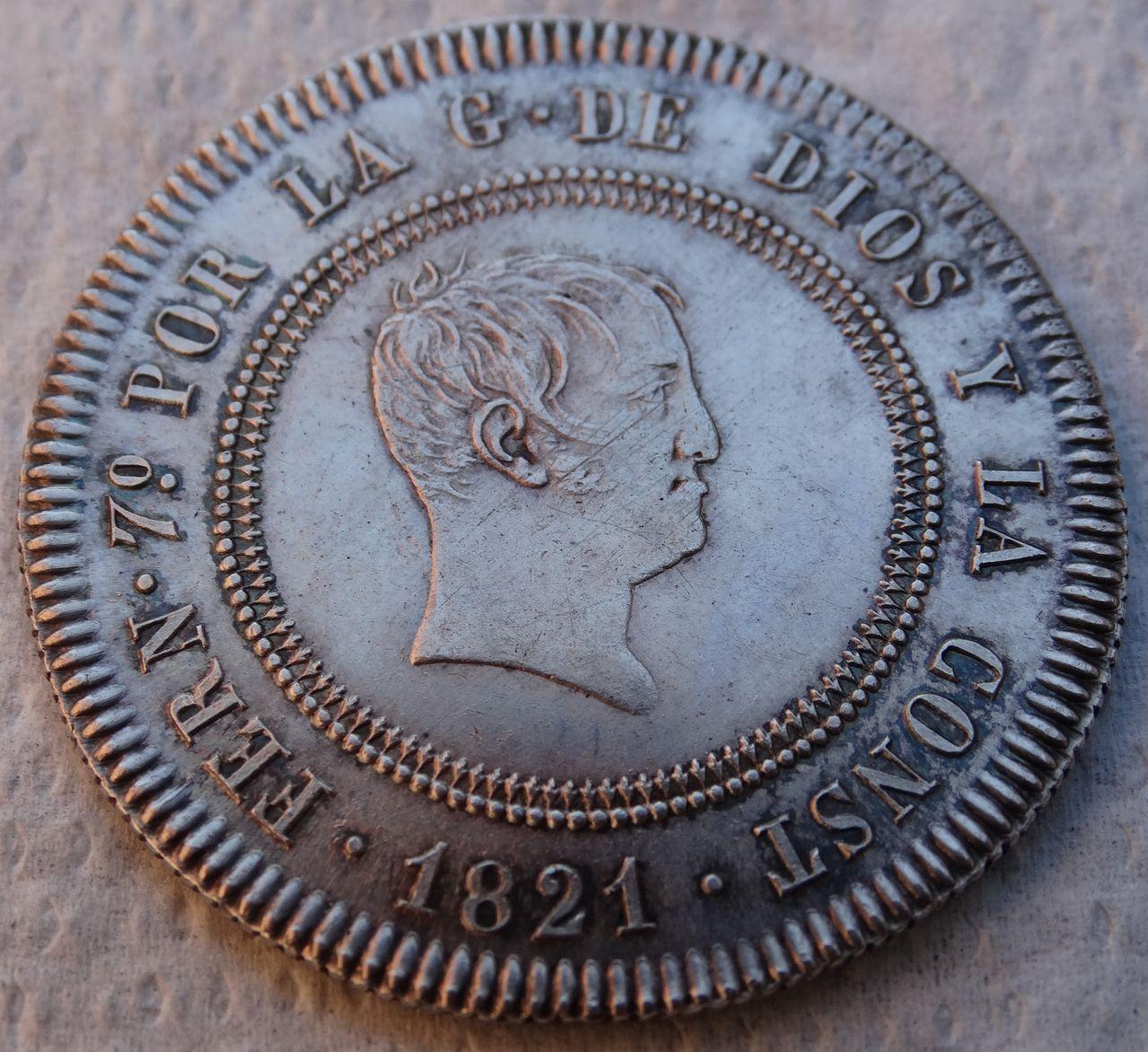 10 REALES FERNANDO VII 1821 SEVILLA SIN CIRCULAR DSC04615