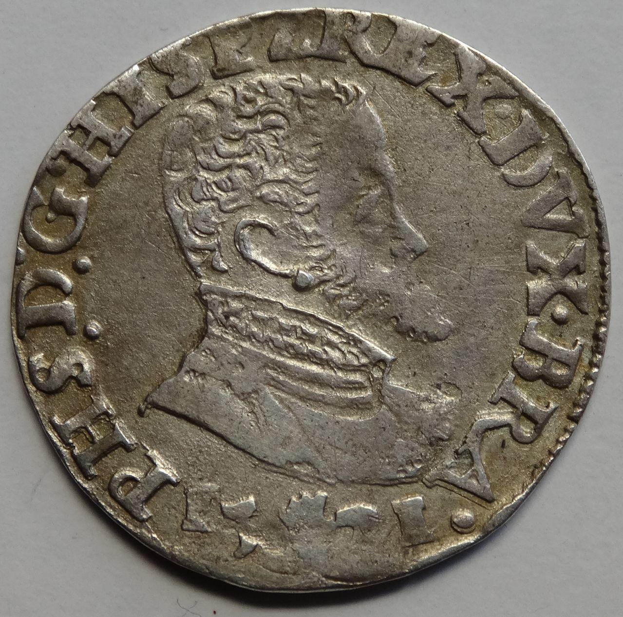 Décimo de escudo de Felipe II. 1571, Amberes de Brabante DSC02466