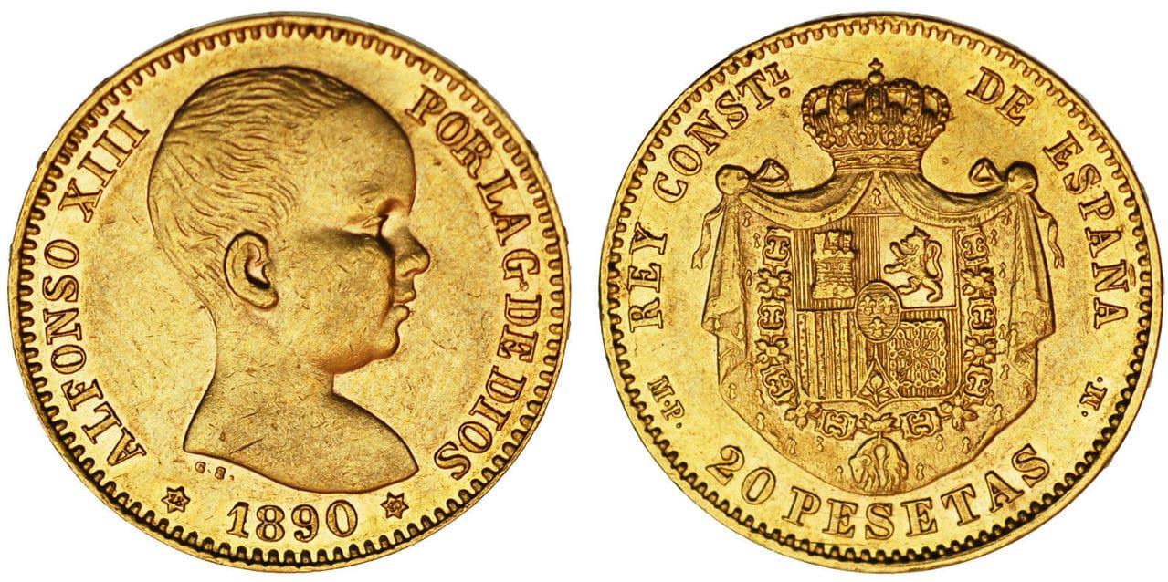 20 Pesetas Alfonso XIII, 1890. 57_9