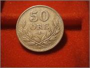 50 Öre - Gustaf V 1939 suecia P9260123