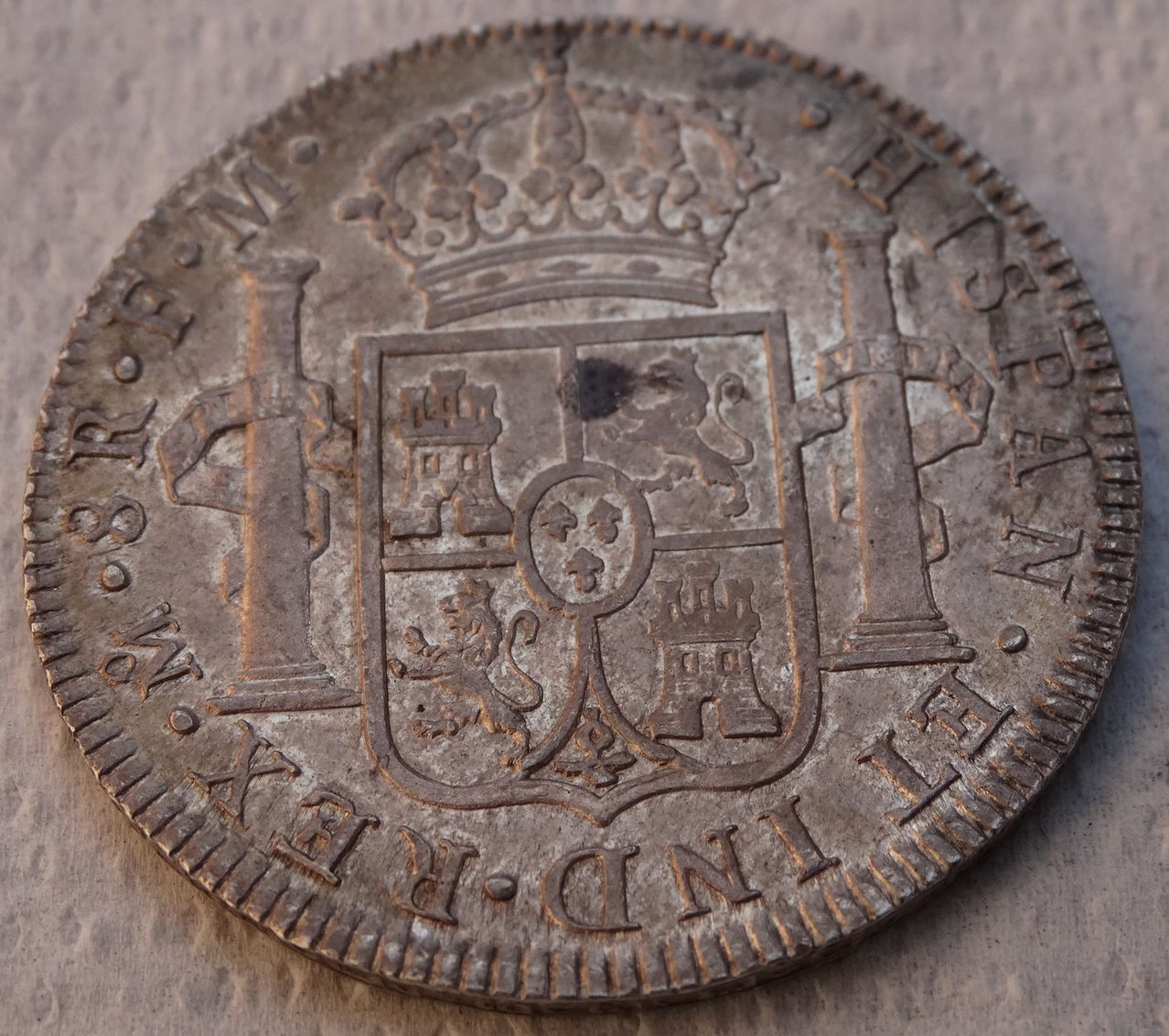 8 reales 1790. Carlos IV (Busto Carlos III ordinal IIII). Méjico  DSC04425