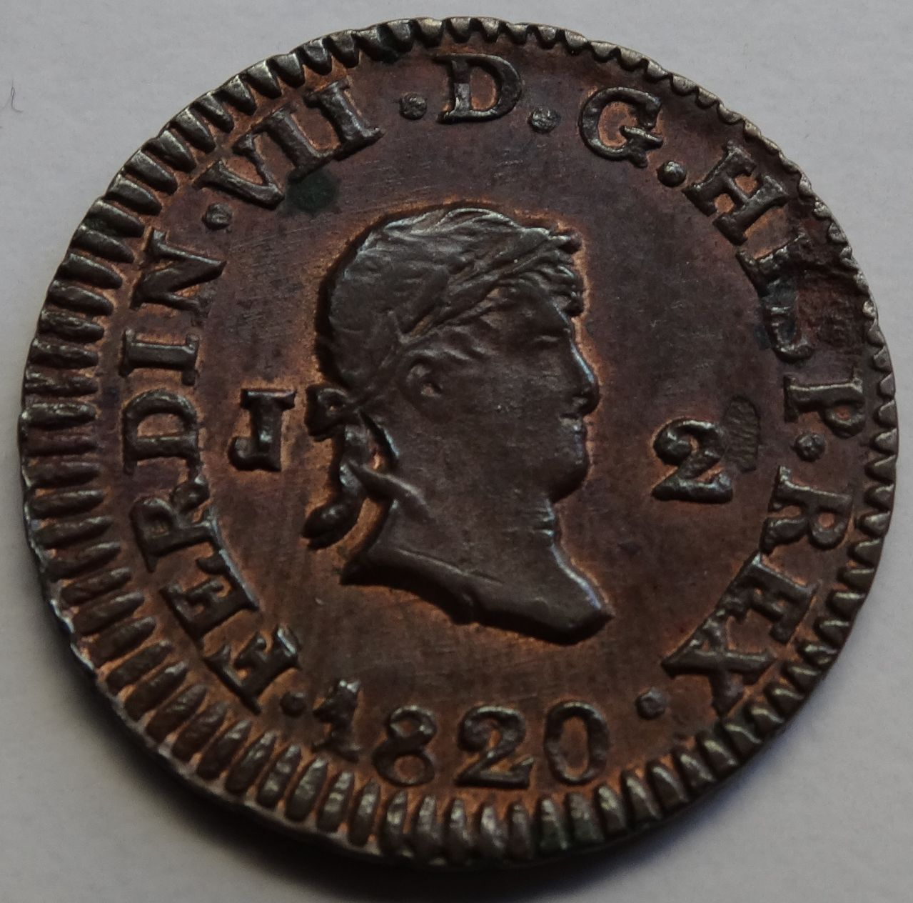 2 MARAVEDIS FERNANDO VII JUBIA  DSC02497