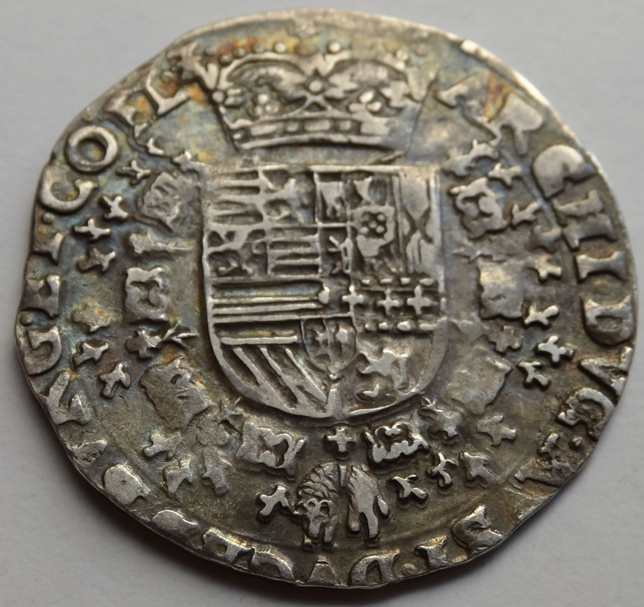 1/4 Patagon s.F (1612/1621) Alberto e Isabel, ceca de Bujas (Flandes) DSC02304