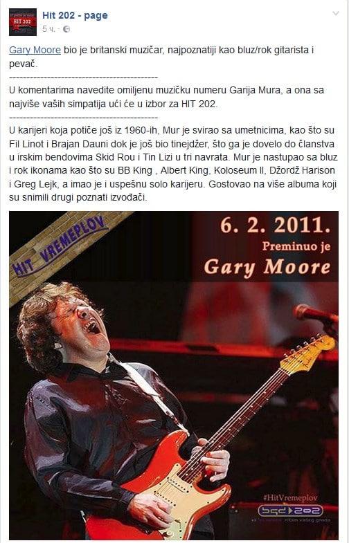 Preminuo Gary Moore Screenshot_1