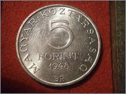 Hungría - 5 forint Hungria 1948 Sandor Petofi P9160186