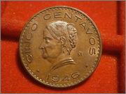 5 centavos 1946 Mexico PB240109