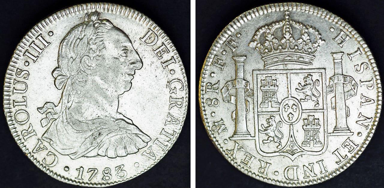 8 Reales Carlos III Mexico 1783. 57_6