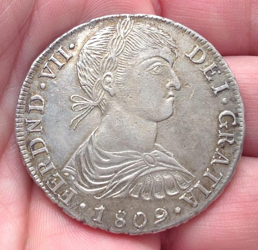 8 reales 1809. Fernando VII. Lima. Busto indígena. IMG_0460
