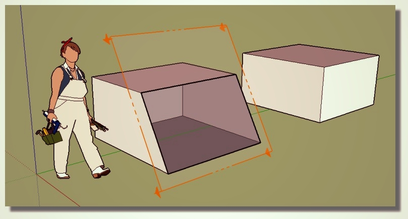 Sketchup découpage facile des tuiles. Super_section