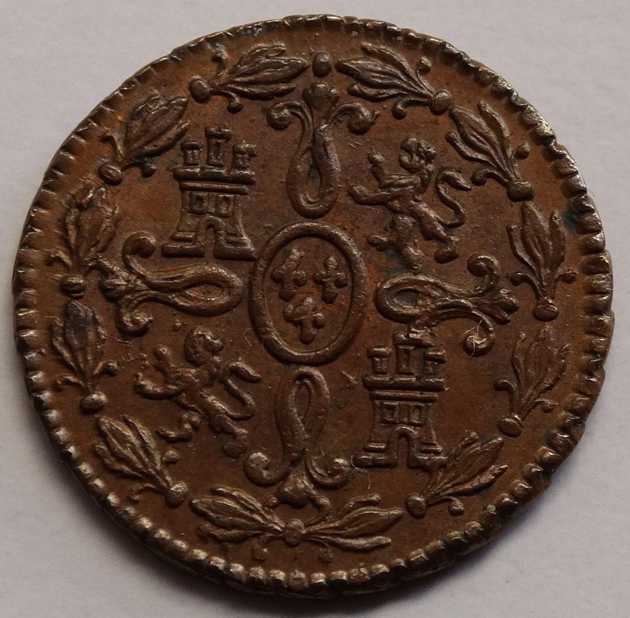 2 maravedís de 1774. Carlos III, Segovia. SC brillo original. DSC03317