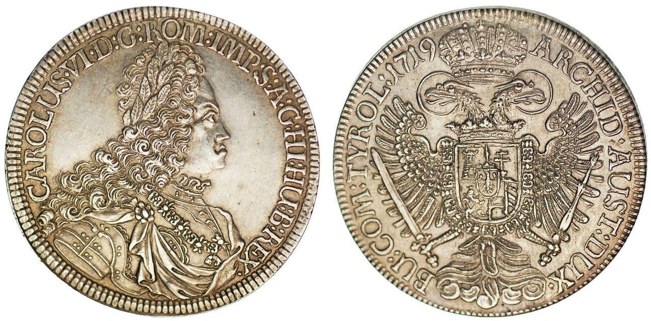 Taler Carlos VI 1719, ceca Hall, Emp. Sacro Imperio. dedicada a mi padre. 57_15