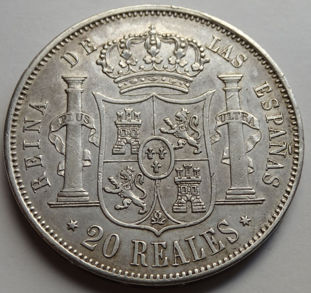 20 REALES ISABEL II 1864 MADRID DSC02289