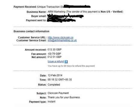 [Testar] ClickCoin BETA - PTC que paga em £ CLICK