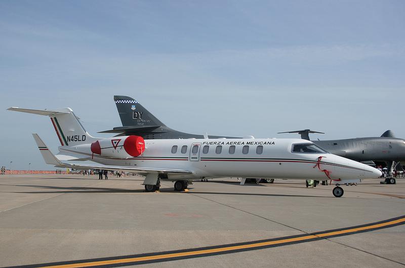 Inventario  de  aeronaves de  la  FAM  ( actualizado 23 Febrero 2016 ) Lerjet_1