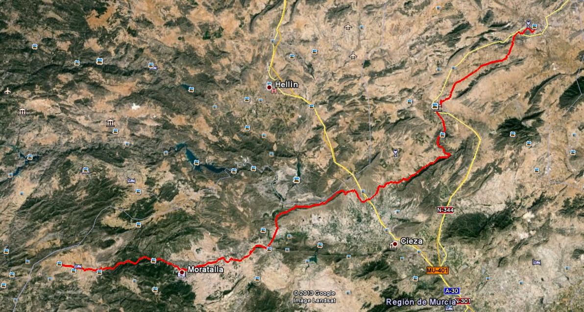 TRASNOMURCIANA  ABRIL'14 Dia2_mapa