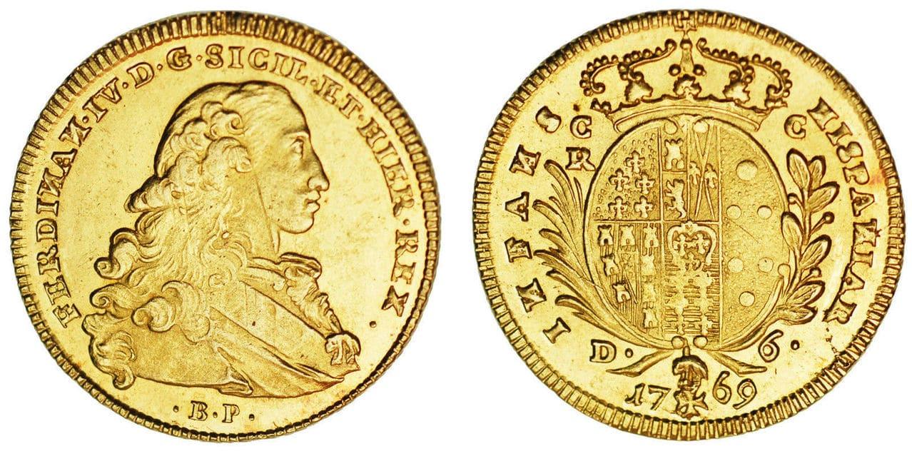6 Ducados Fernando IV de Napoles, 1769 Napoles 57_14