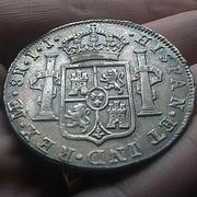 8 Reales 1789. Carlos IV. Lima. Busto Carlos III. CIV1789_N4