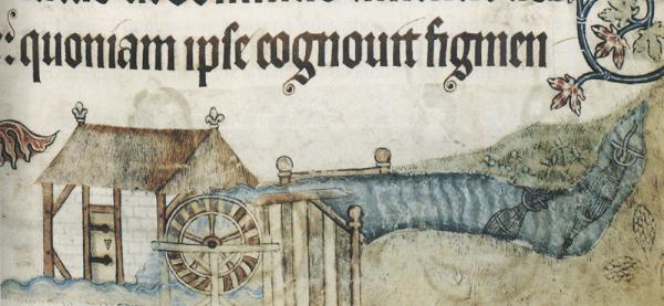 Dish of the Day - II Luttrel-psalter_mill-with-eel-bucks