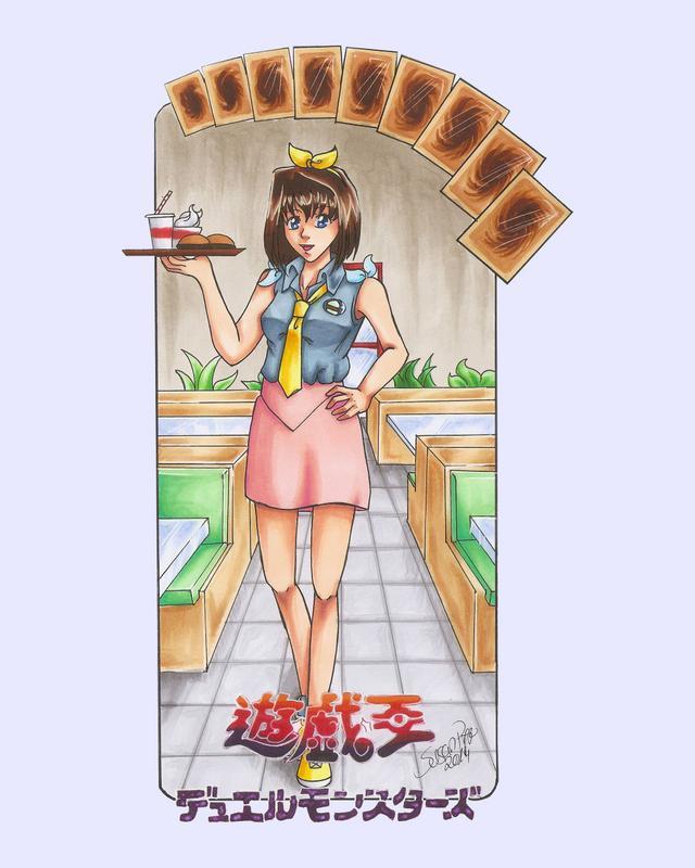 Hình vẽ Anzu Mazaki bộ YugiOh (vua trò chơi) 1_Anzup_2